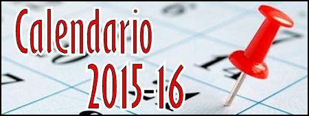 Calendario Escolar. Curso 2015/2016